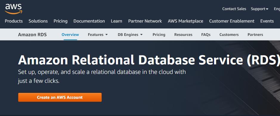 Amazon RDS database management software