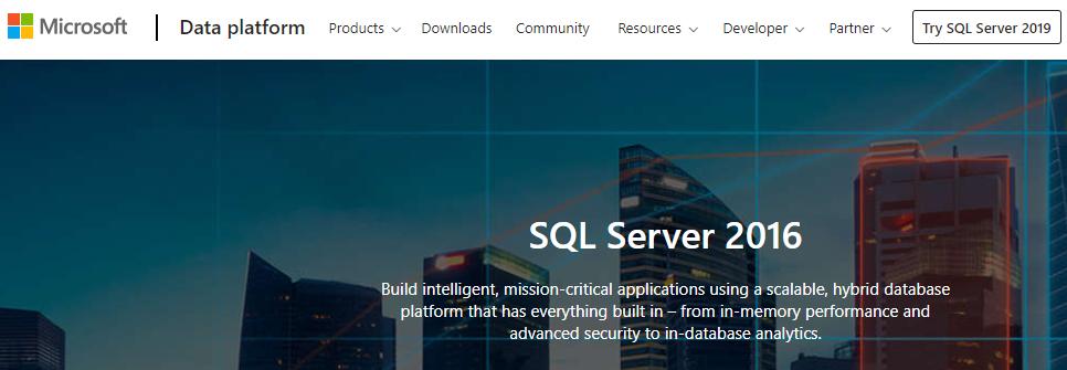 SQL Server database management software