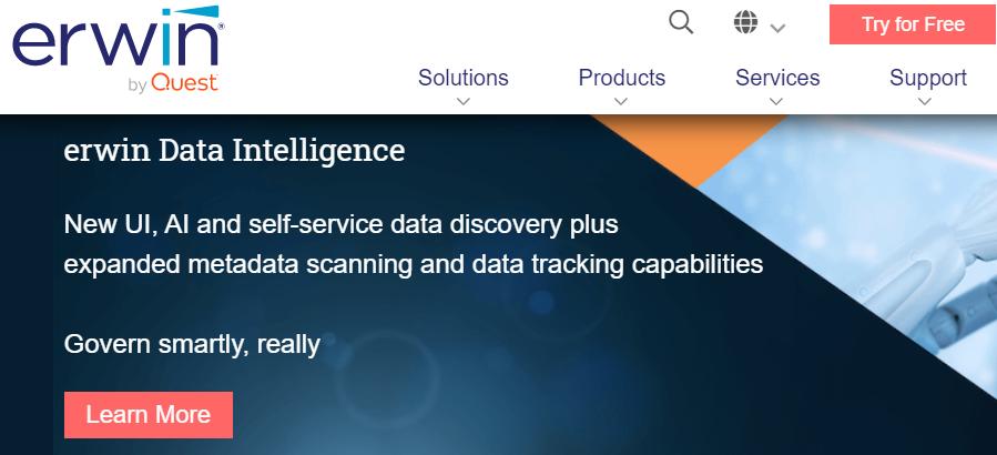 erwin, data analytics tool, modanwealth
